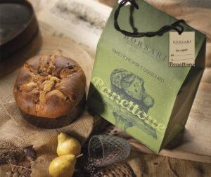 Panettone pere e cioccolato in shooper i rustici Borsari