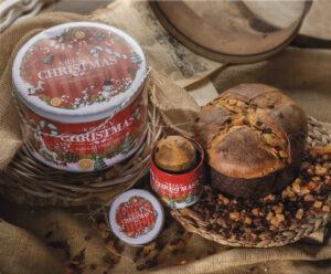 Panettone in latta Merry Christmas Borsari